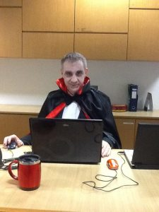 """""""Drac"""" at the Information Desk"""